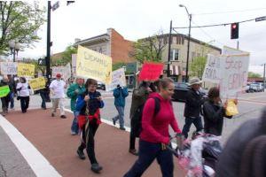 Grove protest